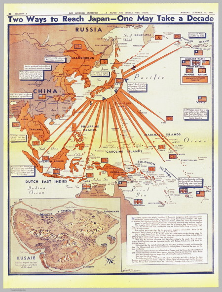 pacific map ww2 wwii world war two 1943 invasion of Japan