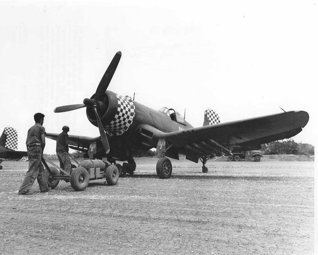 F4U Corsair being loaded at Kadena