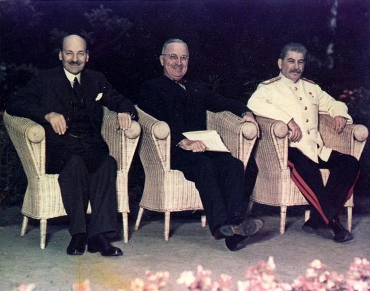 Atlee, Truman, Stalin at Potsdam