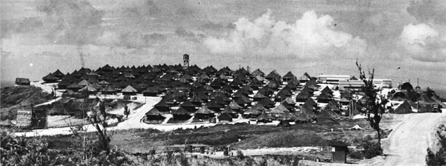 Seabees base on Guam 1945